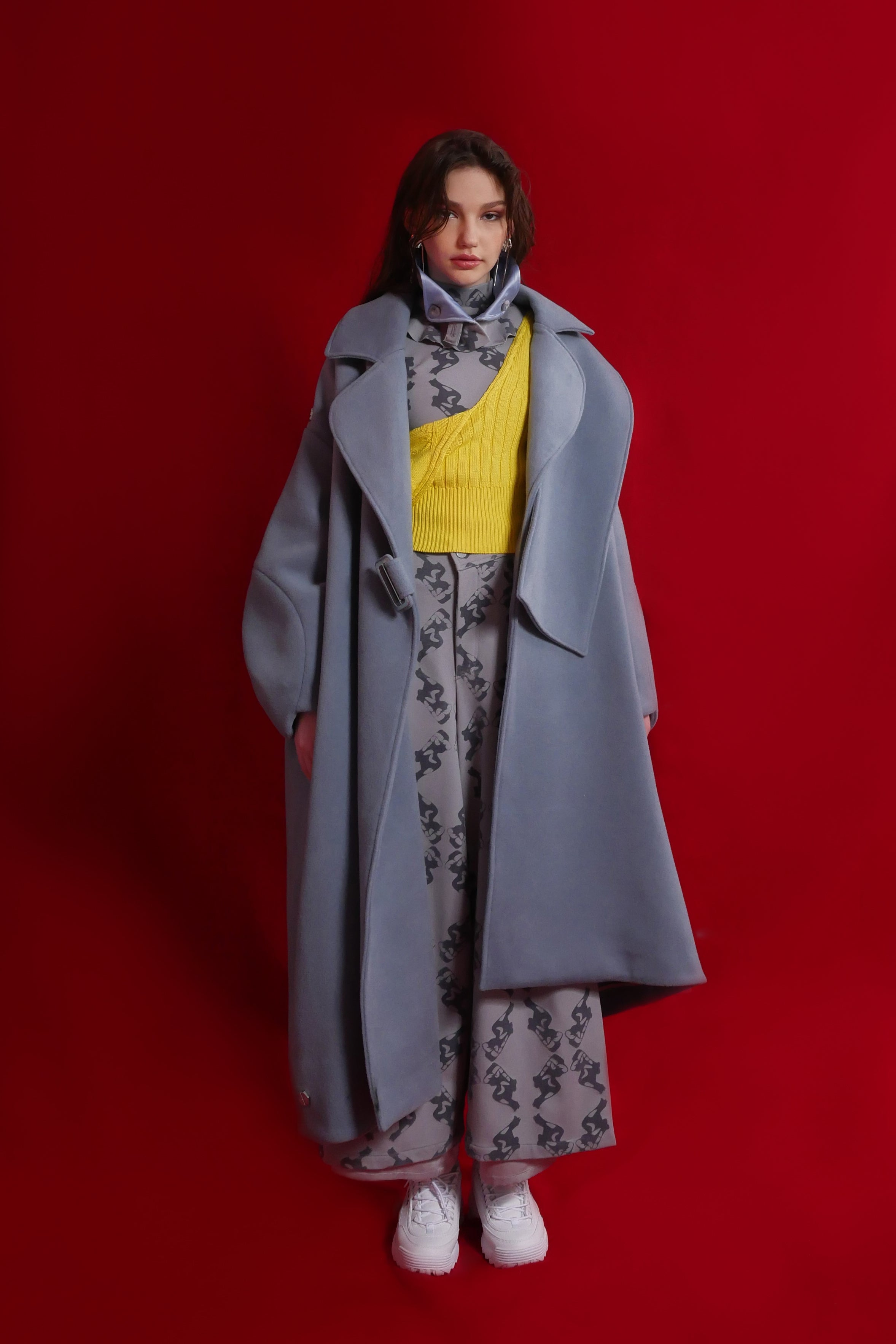 2018AW<br>WOOL COAT  (BLUE)