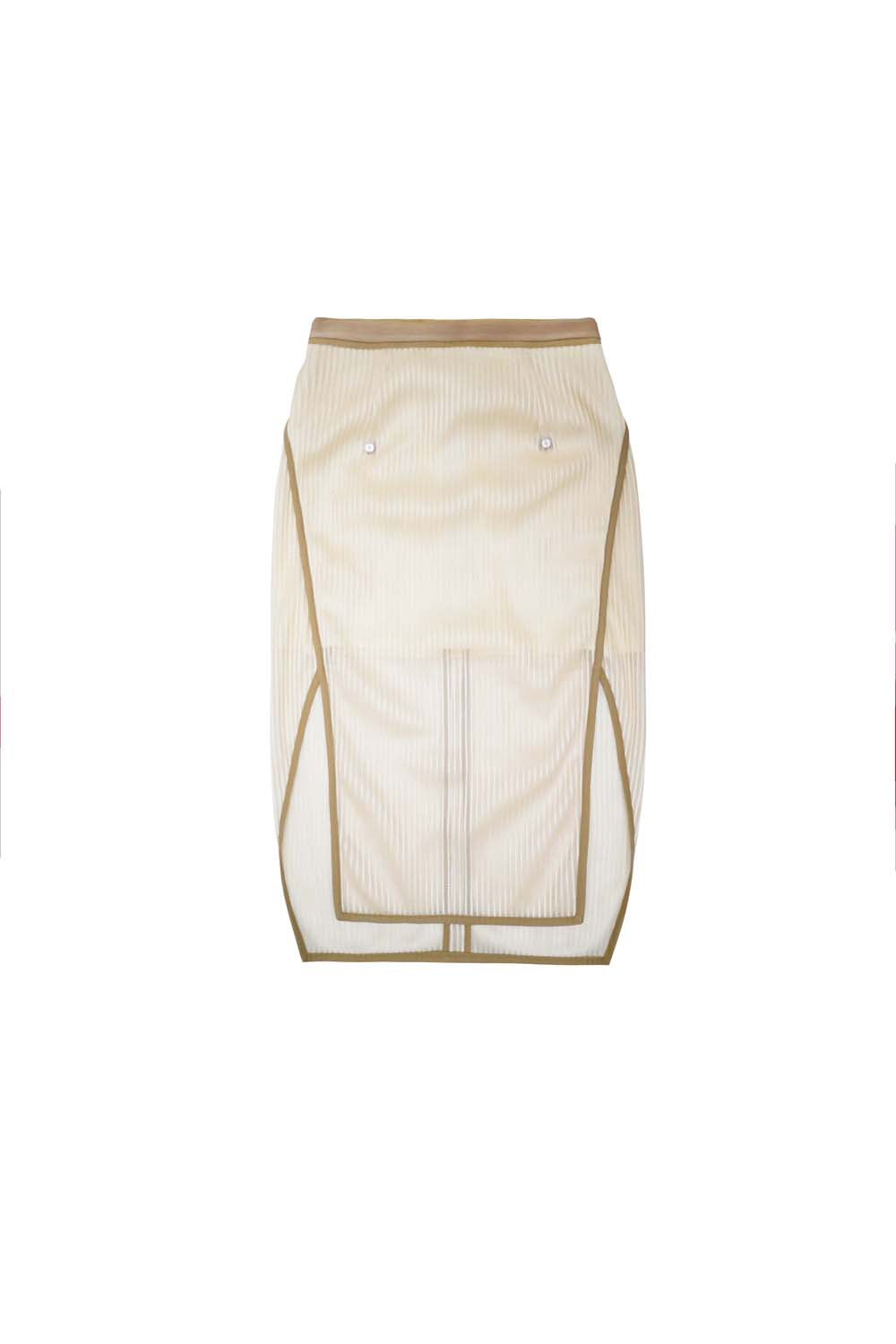 2019SS<br>Translucent Skirt<br>(Nude)