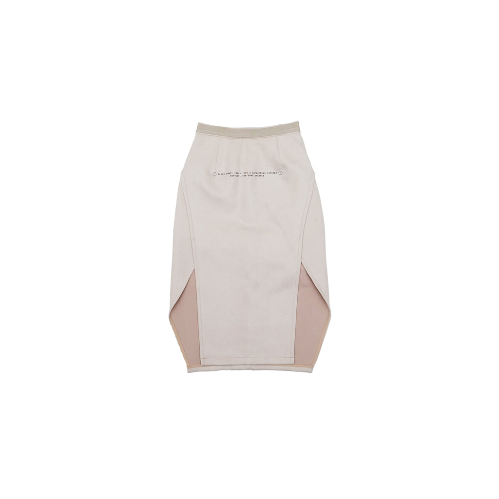 2018AW<br>STRETCHY SKIRT<br>(NUDE/BLUE)
