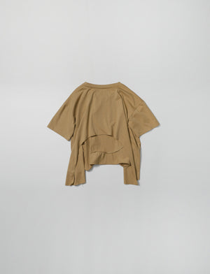 Tee Unbalanced hem Top (Khaki)