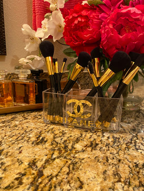 Chanel Makeup Brush Holder - Organizer - Clear Acrylic