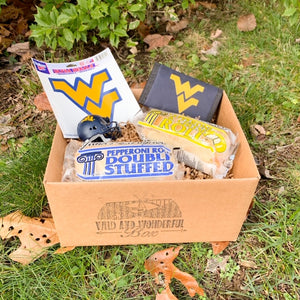 Blue and Gold Tailgate Box