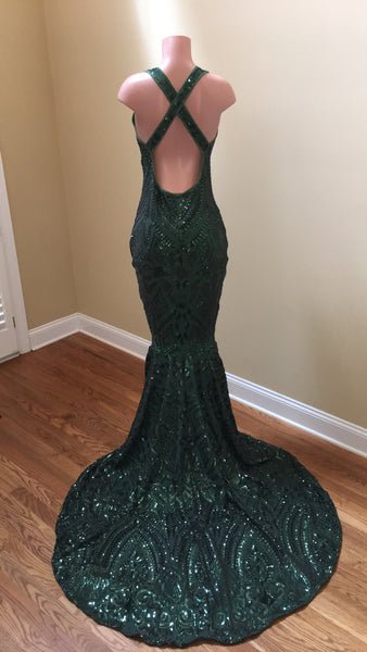 Geometric sequin gown
