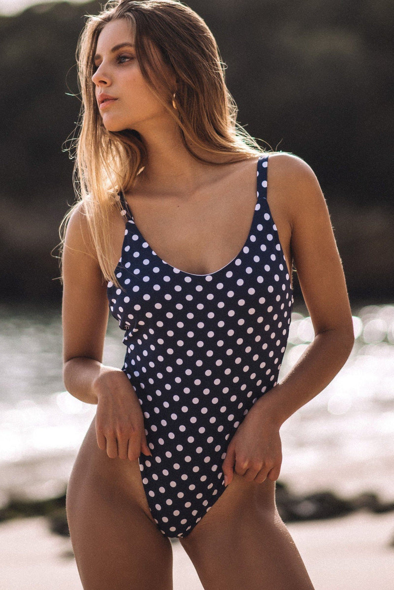 CORA ONE PIECE (BLUE POLKA)