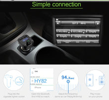 Bluetooth Car Radio Transmitter - Handsfree Calling - Music Playback - Dual Fast USB Charger