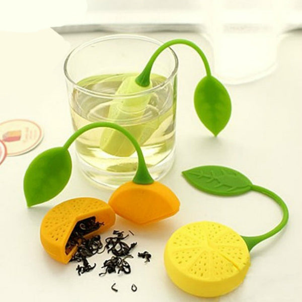 Cute Silicone Lemon Shape Tea Strainer