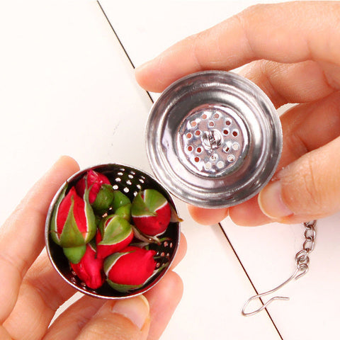 Stainless Ball Tea Leaf Spice Mesh Filter