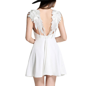 Angel Wings Sexy Backless Dress
