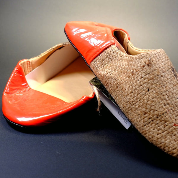 f26c9e29103 Coffee Jute Slippers - texture style
