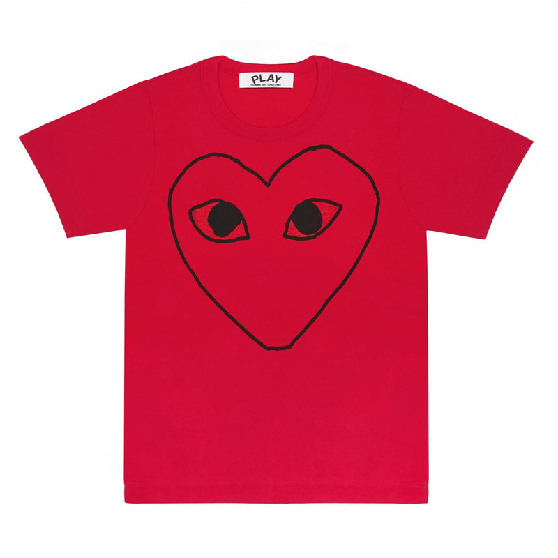 CDG PLAY WOMEN'S RED SKETCH TEE