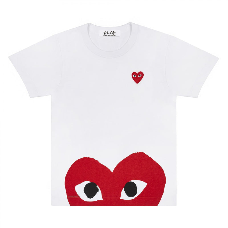 CDG PLAY WOMEN'S HEART EYE EDGE TEE