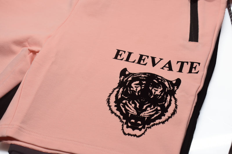 Elevate ' Eye of the Tiger' Salmon Shorts