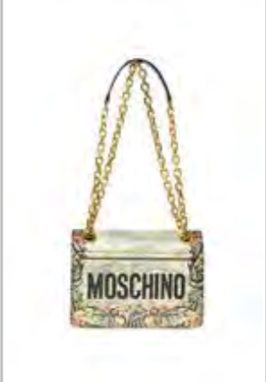 MOSCHINO 'M' FLOURISH SHOULDER BAG