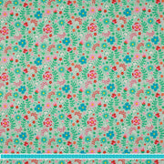 "Megan Blue Jersey ""flowers and dots"" mint-Stoffe-Jinny & Joe"