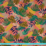 "Poppy Canvas ""Tropical Leaves"" rosa-Stoffe-Jinny & Joe"