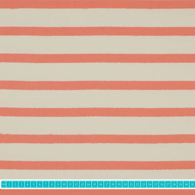 "Adlico Jersey ""stripes-living coral""-Stoffe-Jinny & Joe"