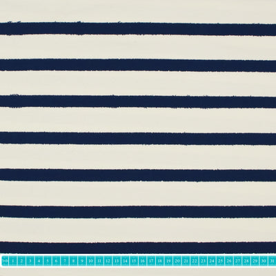 "Adlico Jersey ""stripes-living navy""-Stoffe-Jinny & Joe"