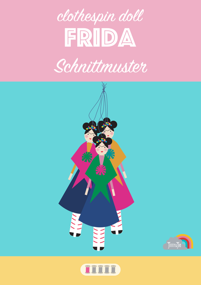 eBook: Frida - clothespin doll-E-Book-Jinny & Joe