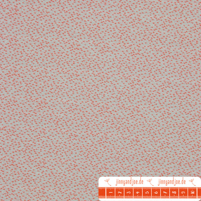 "lillestoff Jacquard ""Dotties"" hellblau-orange-Stoffe-Jinny & Joe"