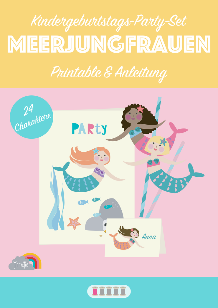 eBook: Meerjungfrauen Kindergeburtstag Party Set-E-Book-Jinny & Joe