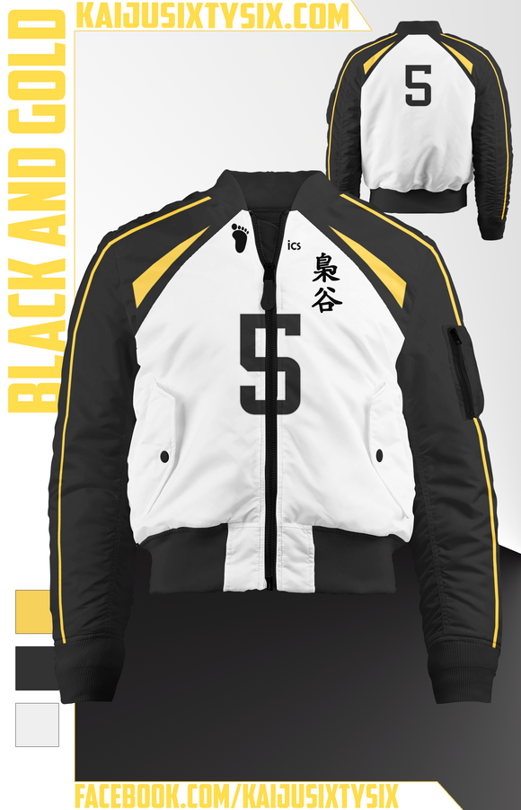 Black and Gold Bomber Jacket! [Preorder]