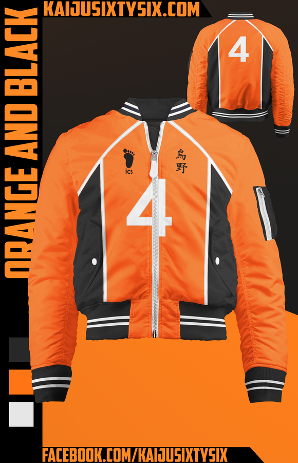 Orange and Black Bomber Jacket! [Preorder]