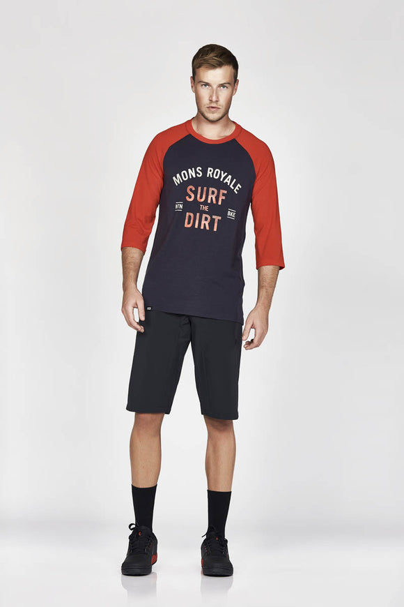 Mons Royale Redwood 3/4 Raglan T-Surf - Men's