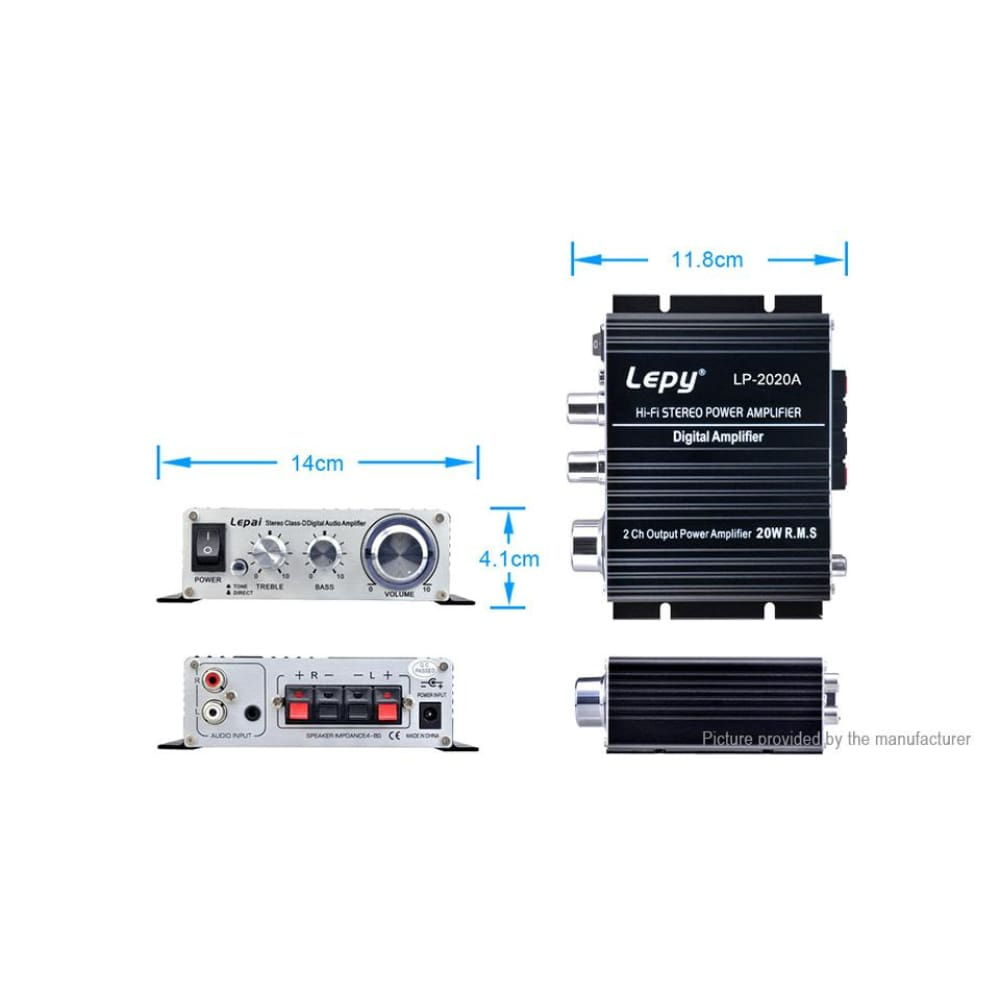Lepy LP-2020A 12V Mini Hi-Fi Stereo Digital Audio Power Amplifier (EU) - Amplifiers