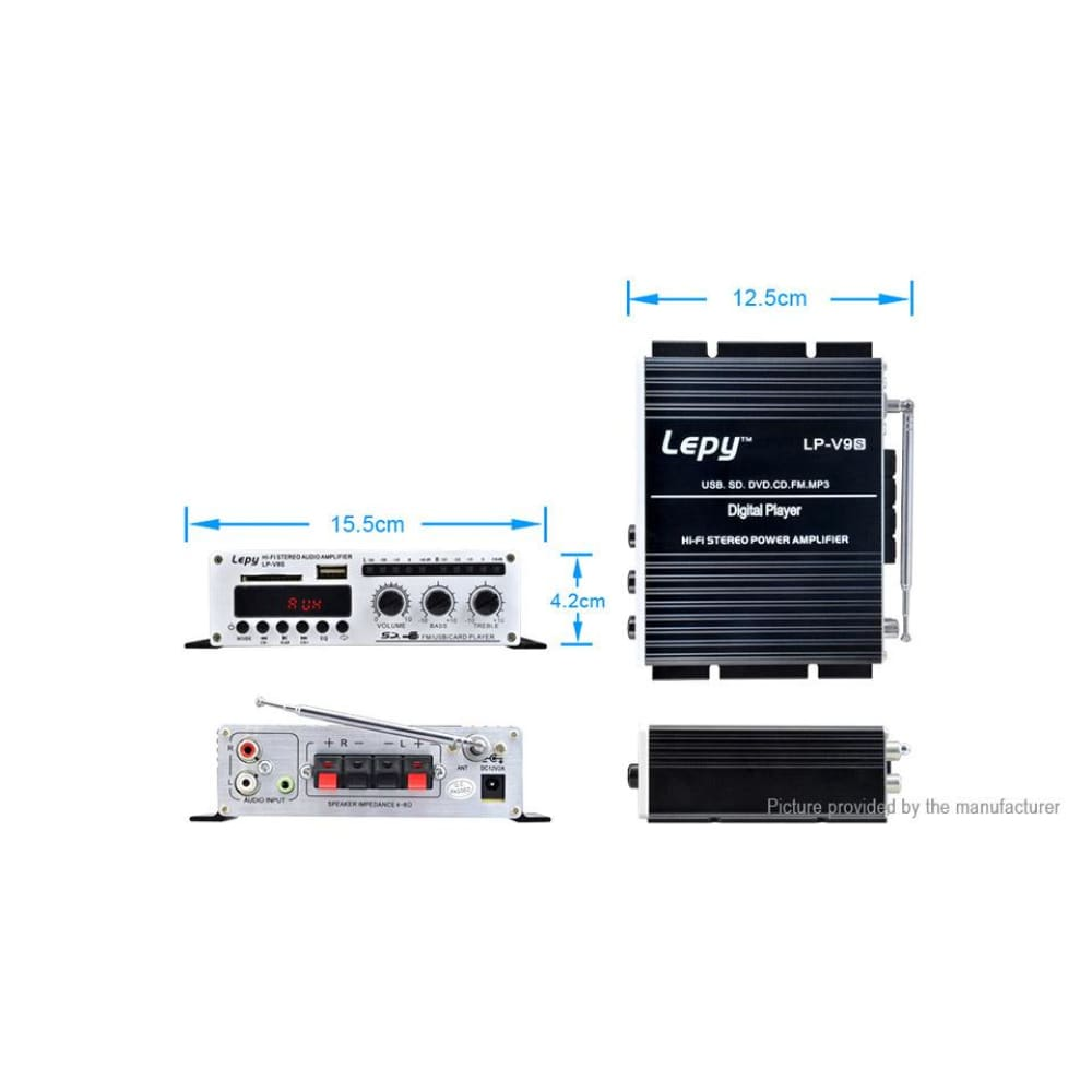 Lepy LP-V9S Hi-Fi Stereo Power Digital Amplifier (EU) - Amplifiers