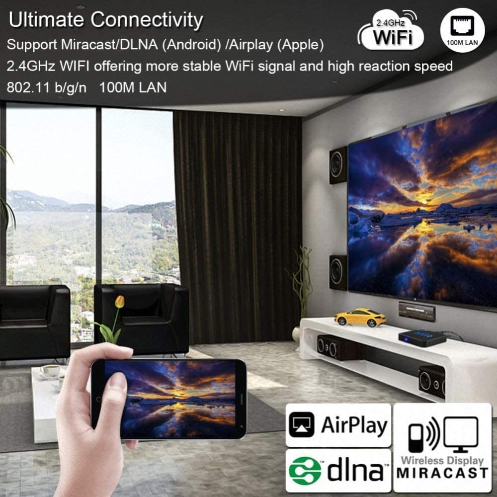 Beelink GT King tv Box Android 9.0 4GB RAM 64GB Amlogic S922X Hexa-core Support 2.4G 5.8G WiFi BT 4.1 4K 60fps Voice Remote Control - TV /