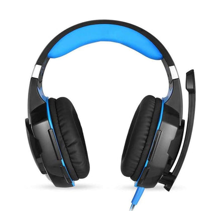 3.5mm Gaming Headset Black Blue - Audio & Video Gadgets