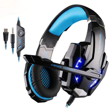 Black Blue Gaming Headset - Audio & Video Gadgets