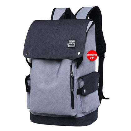 Men Backpacks USB Charger Laptop Backpack Oxford/Leather bag Casual Mochila Travel Bag