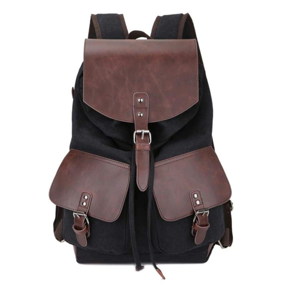 Mens Causal Bag High quality Laptop Travel Bags for Boys & Girls - black - Backpacks