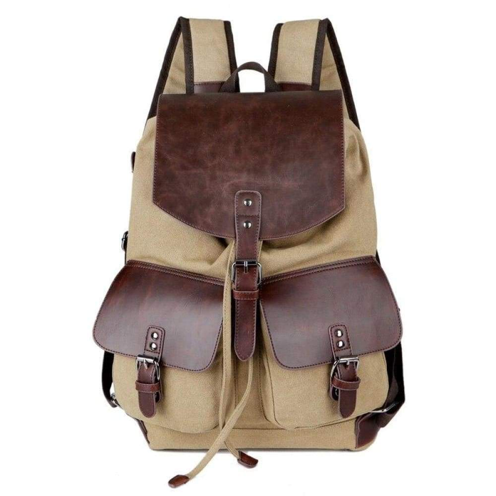 Mens Causal Bag High quality Laptop Travel Bags for Boys & Girls - khaki - Backpacks