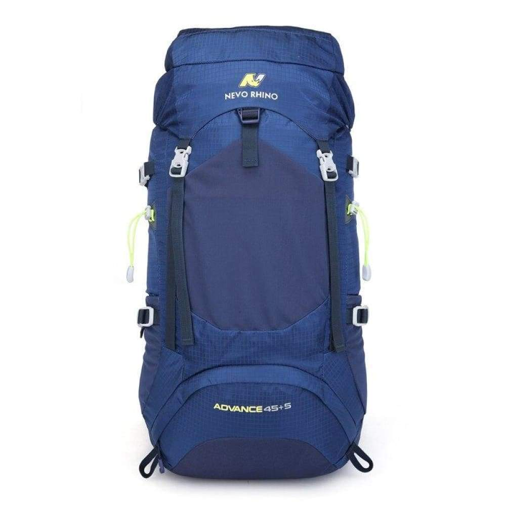 NEVO RHINO 50L Waterproof Mens Backpack Unisex Hiking Outdoor Mountaineering Climbing Bag - Deep Blue - Backpacks