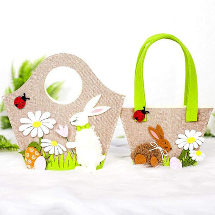 Tote Bag Bunny Decoration Portable Storage New Easter Egg - Bags