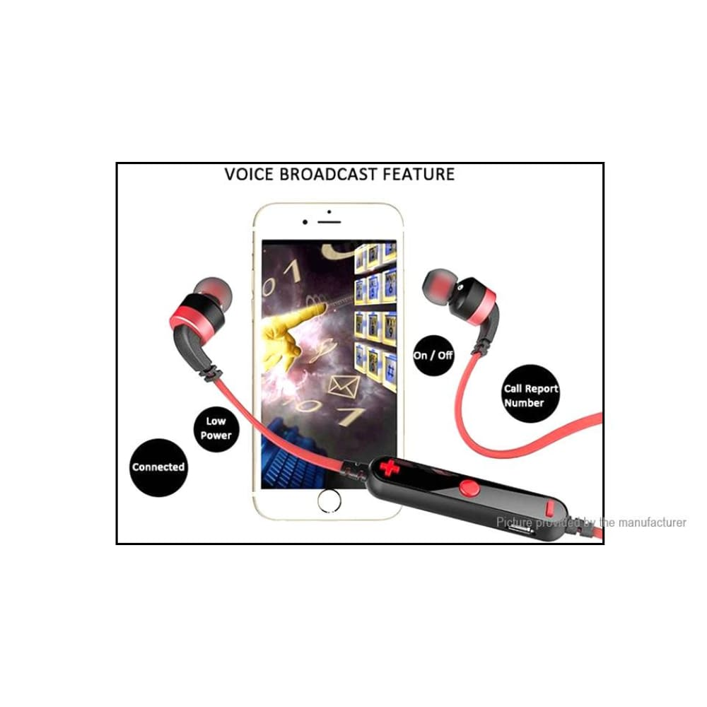 Authentic aWEI A960BL Sports Bluetooth V4.0 Stereo Headset - Headsets
