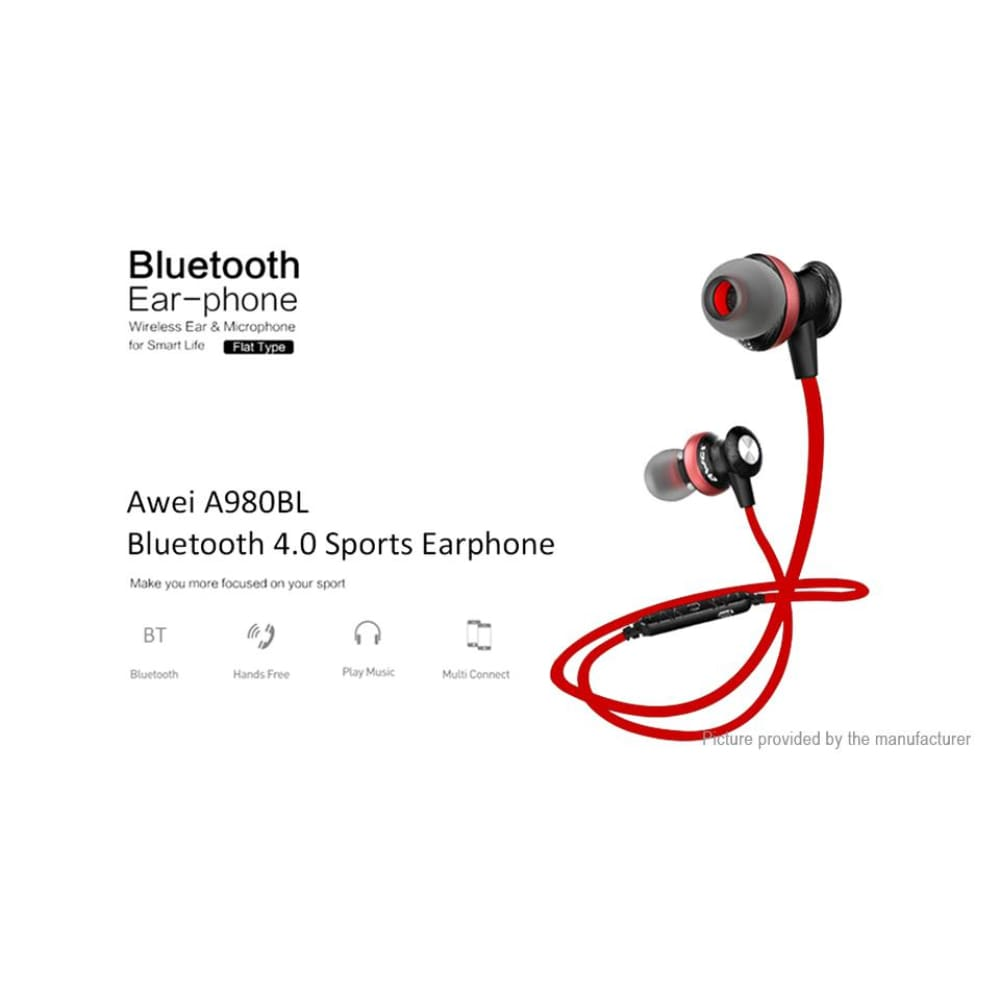 Authentic aWEI A980BL Sports HiFi Bluetooth V4.0 Headset - Headsets