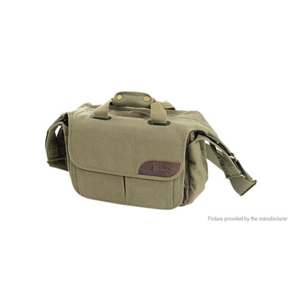 KANI CV-012M Canvas Camera Shoulder Messenger Bag (11L) - Cases & Pouches