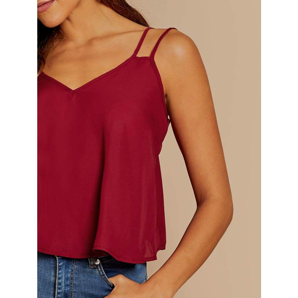 Double Strap Cami Top - Casual