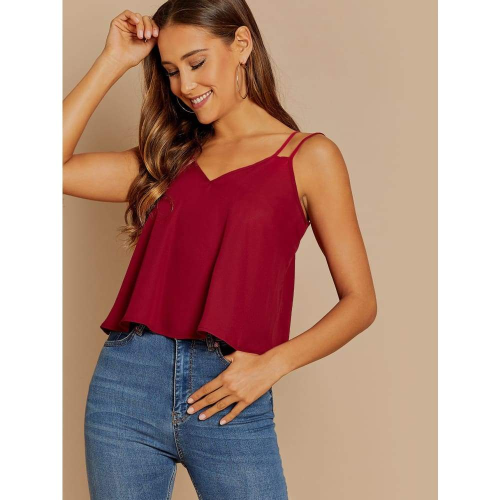 Double Strap Cami Top - XS - Casual