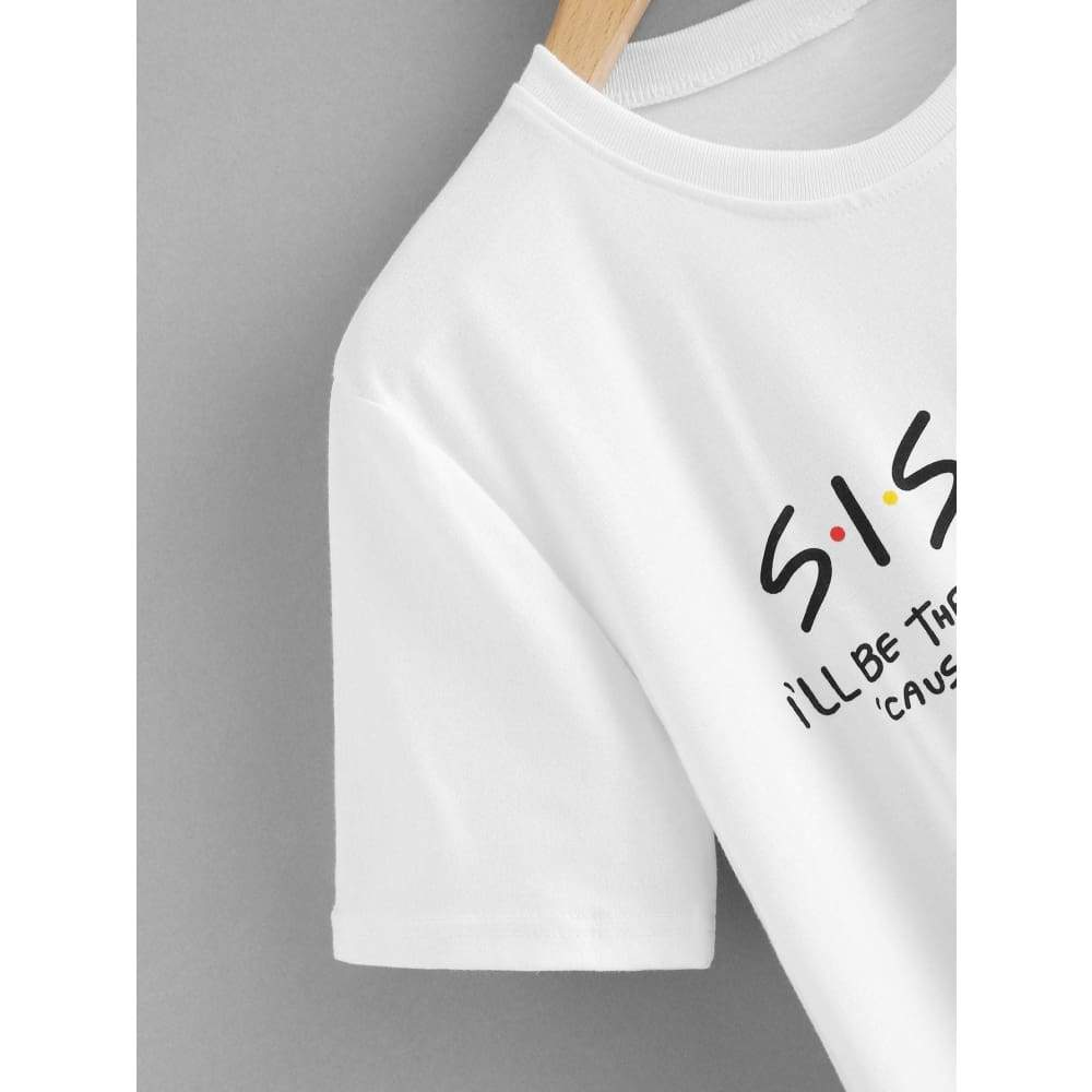 Letter Print Tee - Casual