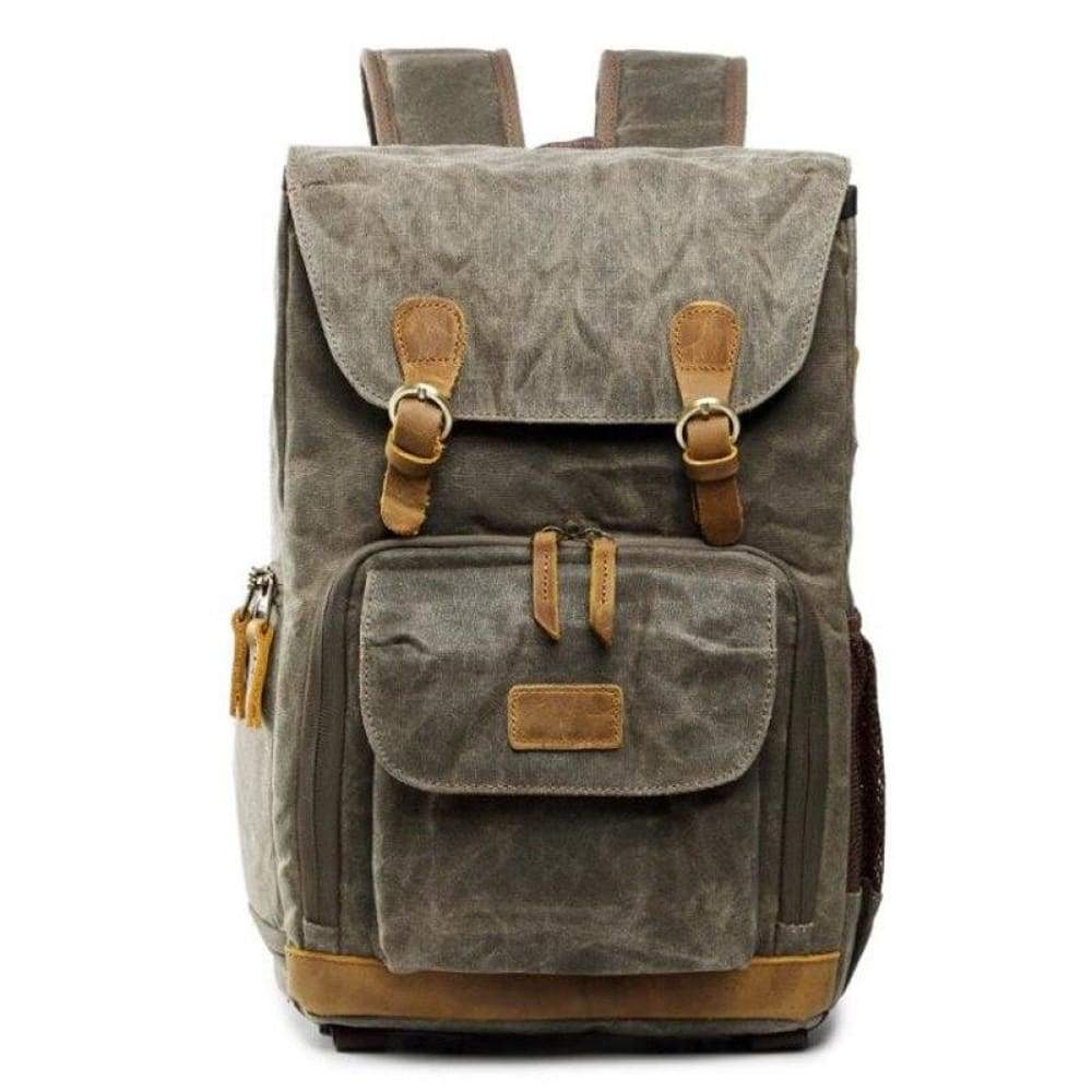 2019 New Retro Shoulder Photography Backpack Waterproof Canvas Men and Women With The Same Liner SLR Digital Camera bag - Army Green