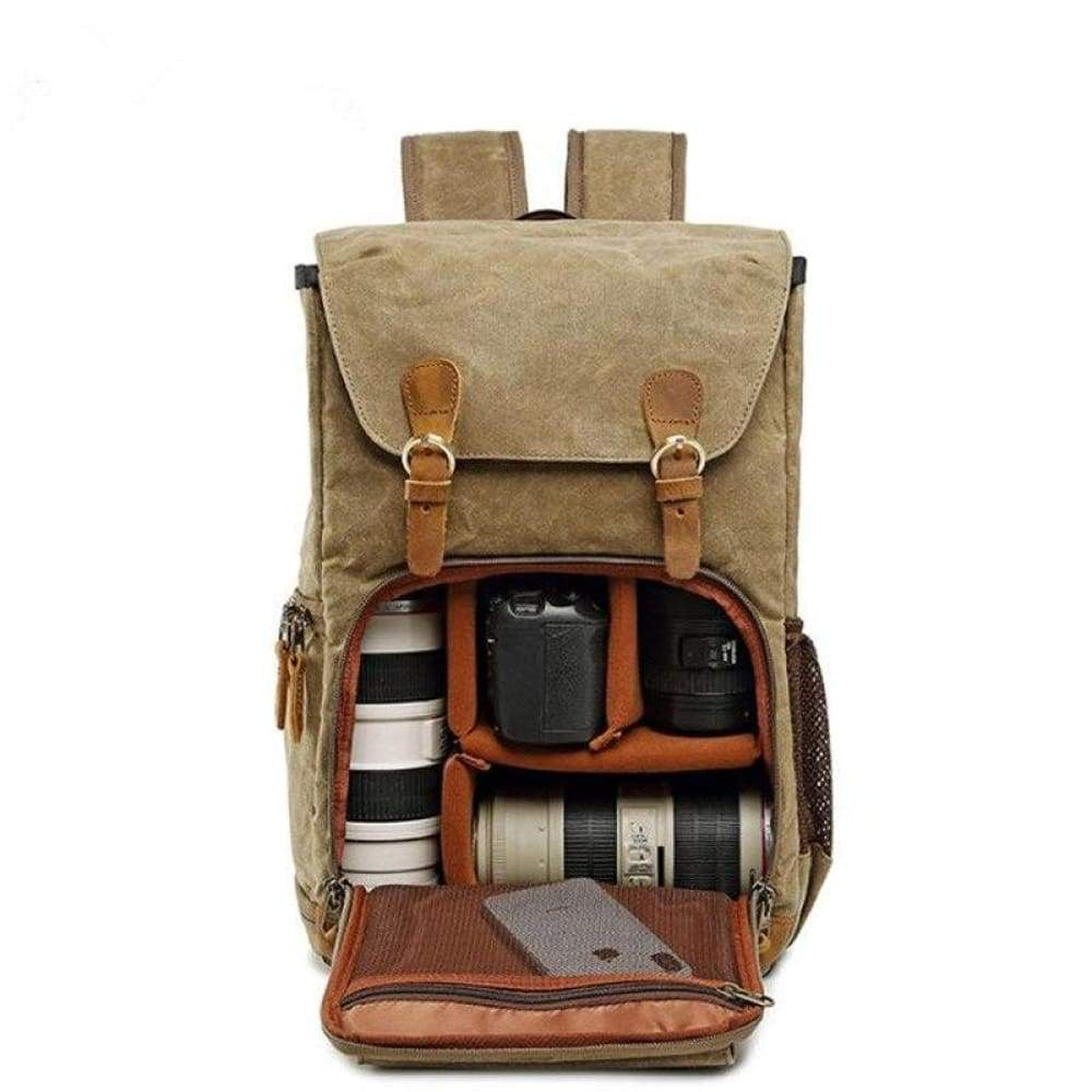 2019 New Retro Shoulder Photography Backpack Waterproof Canvas Men and Women With The Same Liner SLR Digital Camera bag