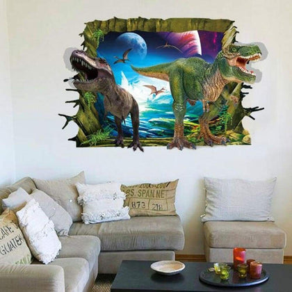 3D Dinosaur Style Removable Wall Stickers Water Resistant Decorative Art Poster