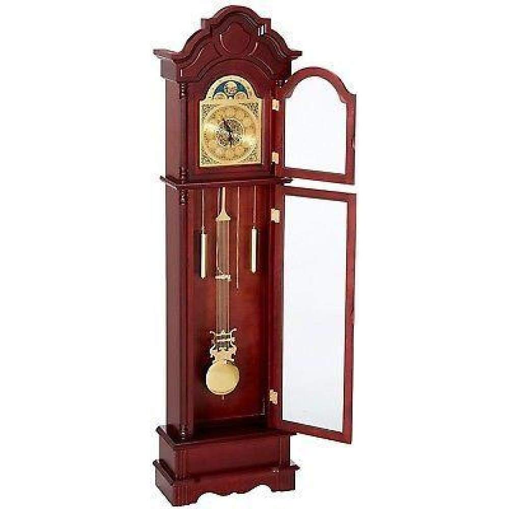 78.5 Grandfather Floor Clock With Chime Roman Numeral Wood Pendulum Decorrative