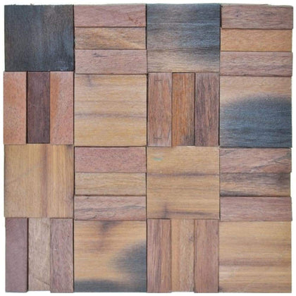 A15015 - 3D Wood Mosaics Tiles 1 Box 10.66 Sq.Ft
