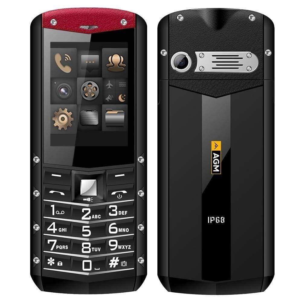 AGM M2 2.4 Rugged Phone Dual SIM Rear 0.3MP Outdoor - Red / English Language