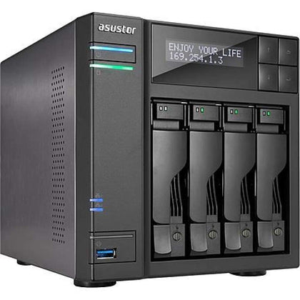 ASUS AS7004T TOR Intel i3 3.5GHz/ 2GB DDR3/ 2GbE/ 2eSATA/ USB3.0/ 4-bay Desktop NAS